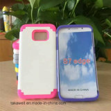 2016 New Product PC+Silicone Hybrid Cell Phone Case for Samsung Galaxy S7/S7plus/S7edge Mobile Cover Case
