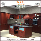 N&L Wood Color Stainless Steel Outdoor Kitchen Cabinet