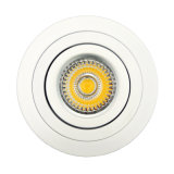 Lathe Aluminum GU10 MR16 Round Tilt Recessed LED Spotlight (LT2302B)