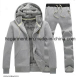 Customer Sports Wear Outdoor Clothing Winter Hoodie Suit /Tracksuit for Man