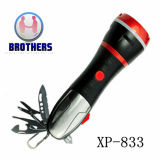Multifunctional Emergency Tool Flashlight with Safety Hammer (833)