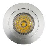 Lathe Aluminum GU10 MR16 Round Fixed Recessed LED Spotlight (LT2110A)
