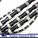 Rubber+Spring Diamond Wire for Concrete