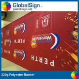 Full Color Printed Fabric Banners 220g Advertising Polyester Banner