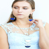 New Design Resin Fashion Earring Necklace Jewelry Set
