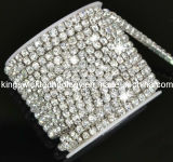 Crystal Roll Rhinestone Cup Chain in Roll, Cup Chain Rhinestone Trimmings for Dresses