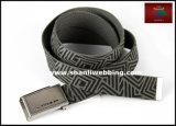 Geometric Printing Fashionable Weaving Jeans Wear Men′s Webbing Belts