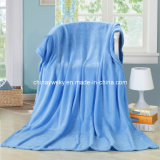 Polyester Coral Fleece Blanket in Solids