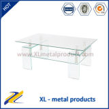 Tianjin Factory Contemporary Bending Glass Coffee Table