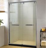 Horizontal Steel Handle Sliding Bypass Shower Door Screen