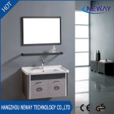 Simple Steel Knock Down Bathroom Vanity Cabinet with Mirror