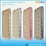 Rubik′s Cube Electroplated TPU Mobile Phone Cover for iPhone 6