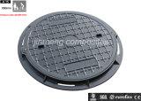 En124 Plastic Sewer Cover / FRP Reinforced Plastic Manhole Cover/ Compound Manhole Lid