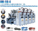 Full-Automatic 4 Station 2 Color TPU Tr Sole Making Machine