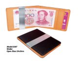 Leather Money Clip Wallet with Interlining (3367)