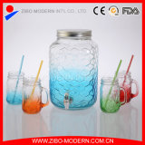 Wholesale Colored Glass Drinking Beverage Dispenser with Rooster Design