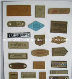 Garment Patch Hand Made Custom Brown Garment Genuine Leather Label, Leather Patch