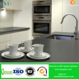 Pure Grey Artificial Quartz Stone for Kitchen Countertop