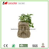Hand-Painted Polyresin Newest Tree Face Flowerpots for Home and Garden Decoration
