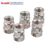 Heat Staking Symmetrical Designed Knurled Insert Nut