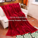 Plain Acrylic Blanket / Raschel Blanket - Red
