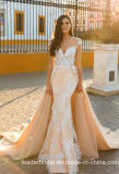Lace Mermaid Bridal Gown Champagne Tullewedding Dress Wd077