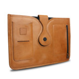 Genuine Leather Tablet Case Cover Business Envelope Clutch File Holder