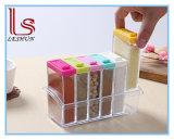 Kitchen Supplies 6PCS Transparet Plastic Seasoning Box Case