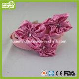 Red Flower of PU Dog Collar Pet Supply