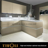 Painting Gold Color Kitchen Furniture with Morden Deisgn Cabinets (AP088)