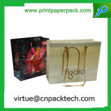 Various Logo Printed Luxury Promotional Shopping Kraft Paper Bag with Nylon Rope Handle