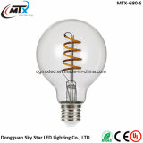 MTX LED bulb A19 T45 ST64 G80 G95, Amber Glass, 3W Dimmable Edison Spiral Filament LED Bulb, Super warm 2200K, E26 E27 Base, Decorative Household bulb