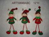 Christmas Decoration Ornament Dangle Elf, 3 Asst