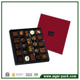 Simple Design Red Square Paper Chocolate Packing Box