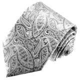 New Fashion Siliver Turkey Flower Pattern Woven Silk Neckties