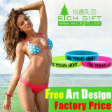 Embossed Inspirational Sport Sydney Customed Fill Color Silicone Bracelet