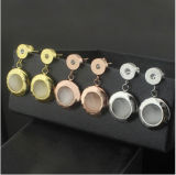 Stainless Steel Fashion Jewelry Shell Jewelry Gold Stud Earrings (hdx147)