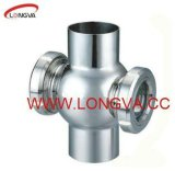 Stainless Steel Sanitary Cross Four Way Sight Glass