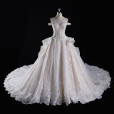 off Shoulder Beading Ball Bridal Wedding Gown