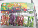 Double Colors Double Flavors Fruity Lollipop in Pillow Film Packing
