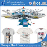 Yh Series Custom Automatic Rotary T-Shirt Silk Screen Printing Machines on Fabric for Sale