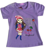 Cute Girl T-Shirt in Children Clothes Wtih Printing Sgt-067