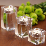 Romantic Crystal Glass Tealight Holder for Decoration