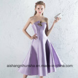 Sexy Strapless Sleeveless Light Purple Formal Party Gown