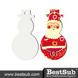 Christmas Hardboard Sublimation Ornament Snowman (HBOM05)