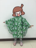 Polyester Breathable Printed Poncho for Children