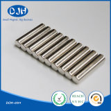 D6*25 mm Rare Earth Sintered Permanent Cylinder Shape NdFeB Magnet