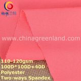 Polyester Pongee Spandex Plain Dyeing Fabric for Woman Textile (GLLML293)
