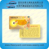 Prepaid PVC Magnetic Stripe Card and Barcode Sle5528 Chip Card