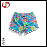 100% Polyester New Pattern Custom Swim Shorts for Women